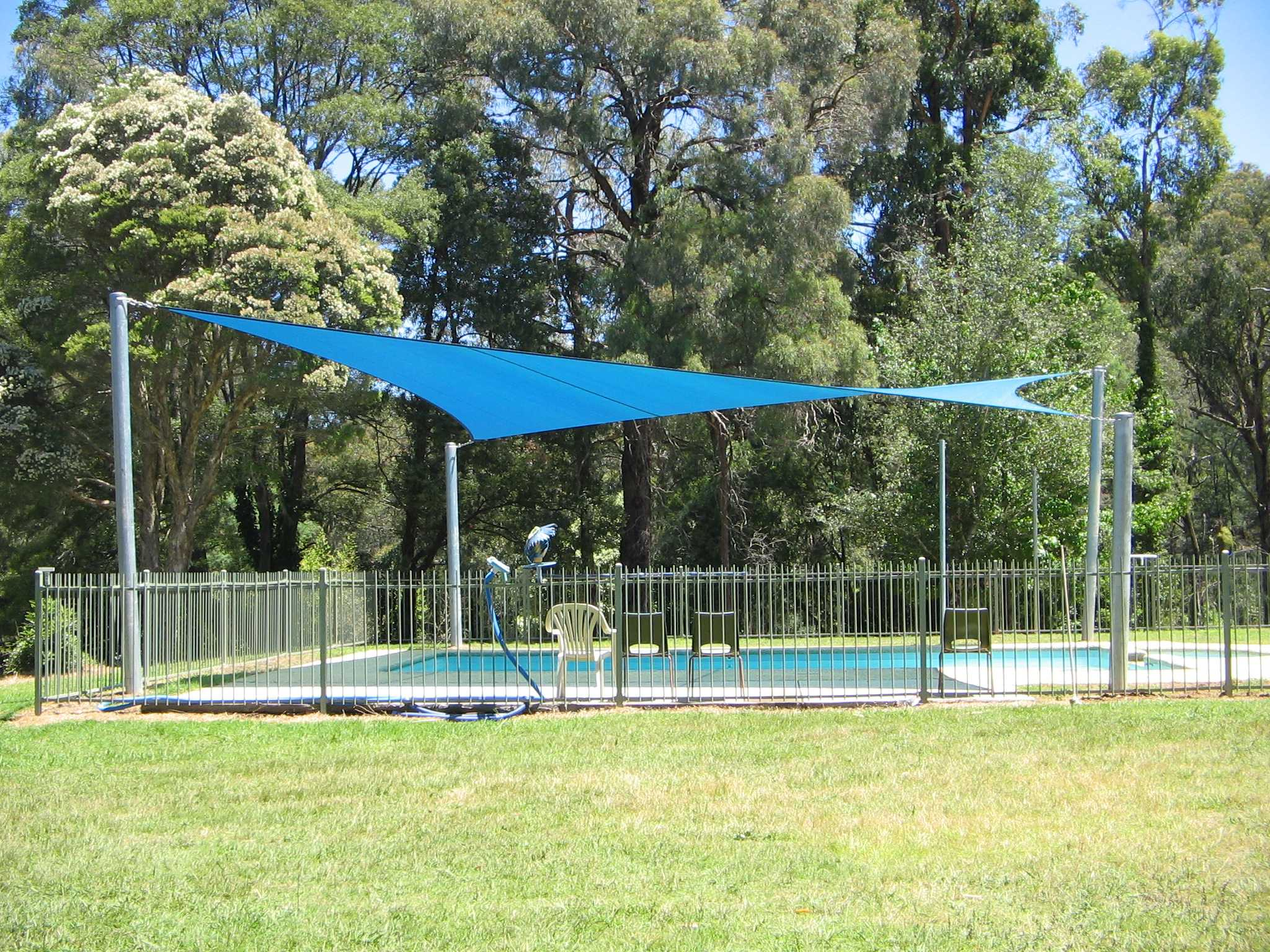 Ferngully Healesville Shade sail over pool