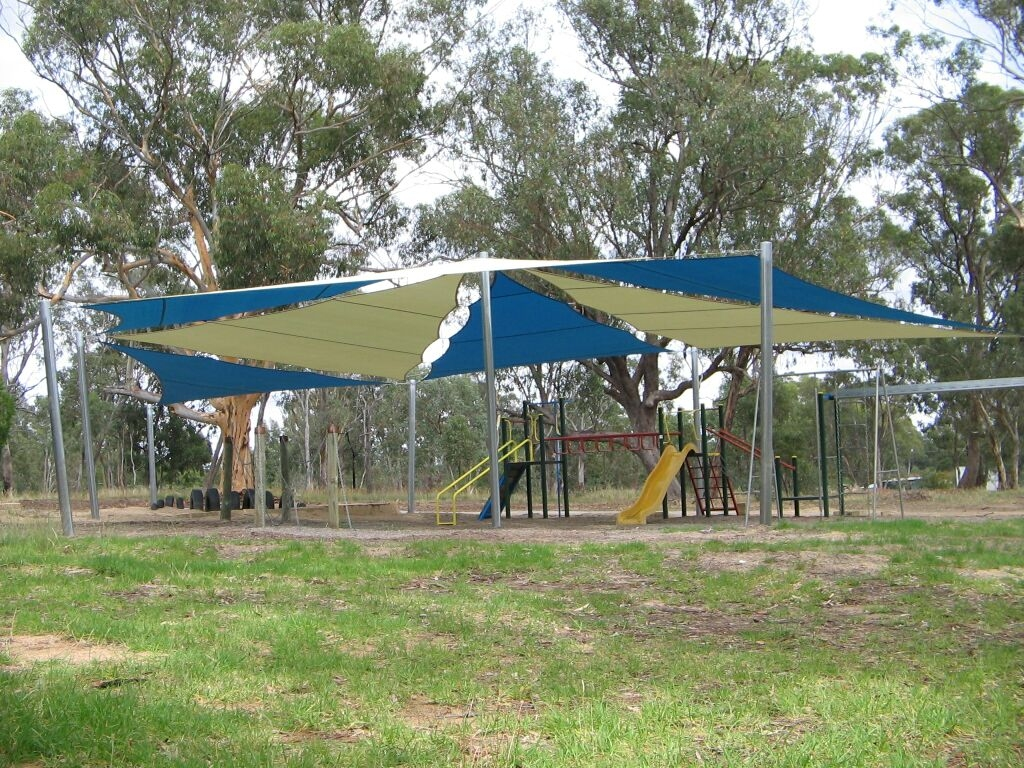 Longwood PS Shade sail over playground