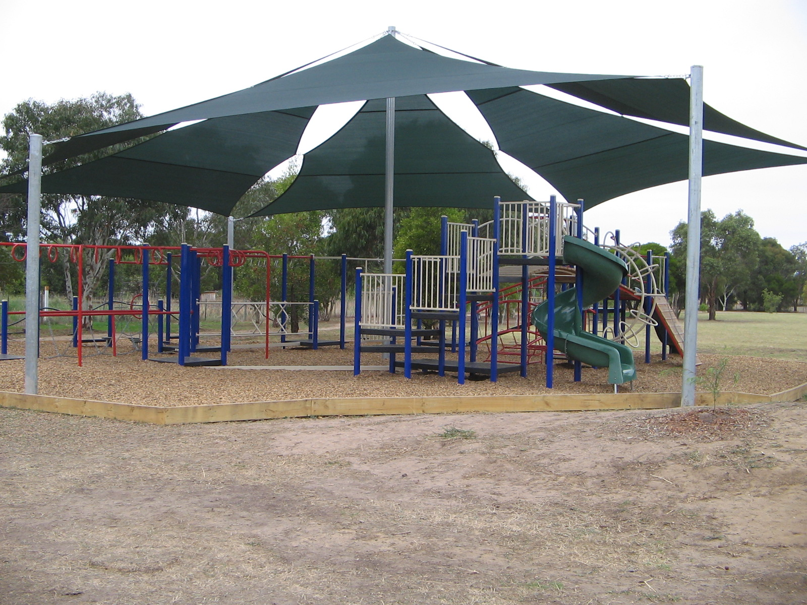 Moriac PS Shade Sail over playground