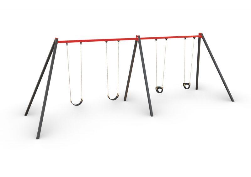 activity, playgrounds, quadriple, swing, steel, melbourne, victoria, australian, made, set, manufacturer
