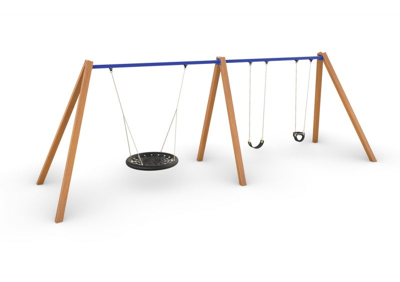 Birds Nest with Double Swing – Timber
