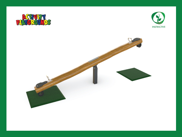 Activity playgrounds, playground, seesaw, instinctive, timber, wood, natural, nature, play