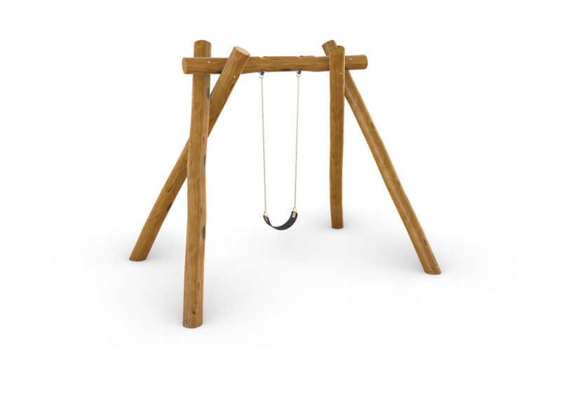 Natural Timber Single Swing