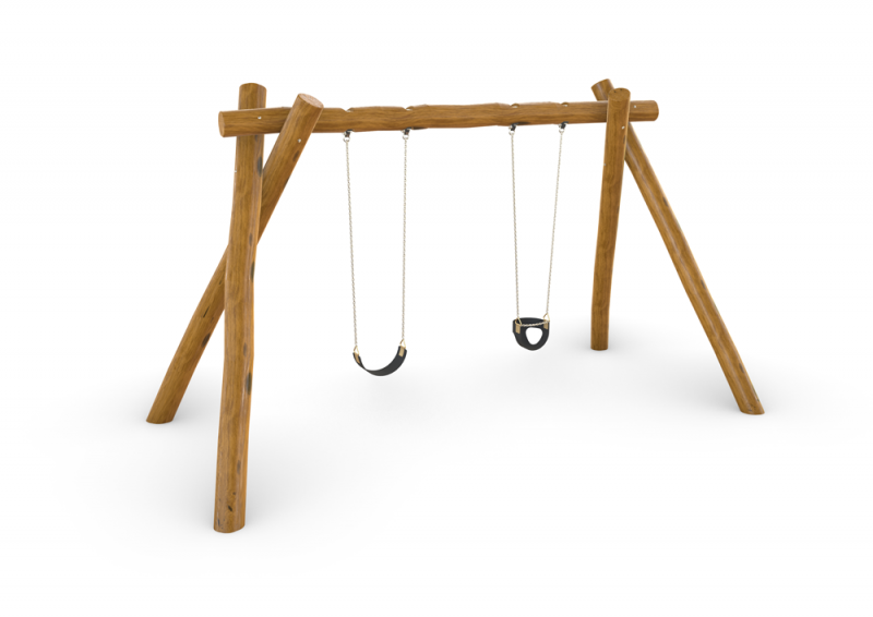 Natural Timber Double Swing